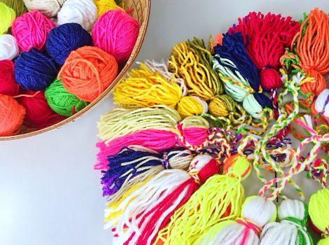 ボランティアを通して毛糸と触れ合う
