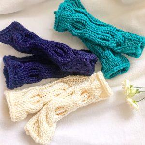 ニット3色手袋