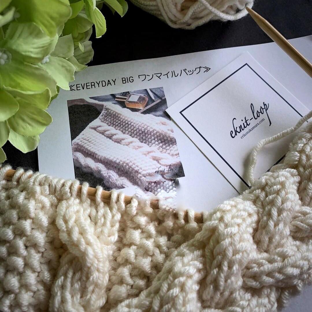 棒編みの編み物講座1回目終了@OTOMANA伊勢丹新宿