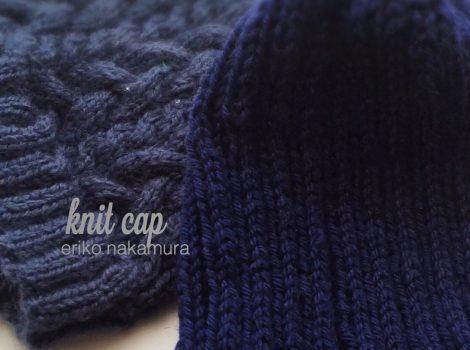 カジュアルなknit capは大人気