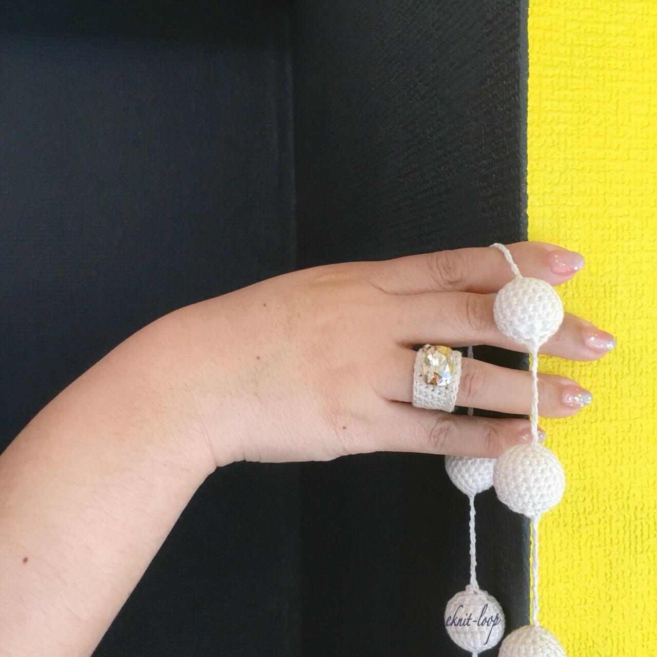 KNIT cotton necklace