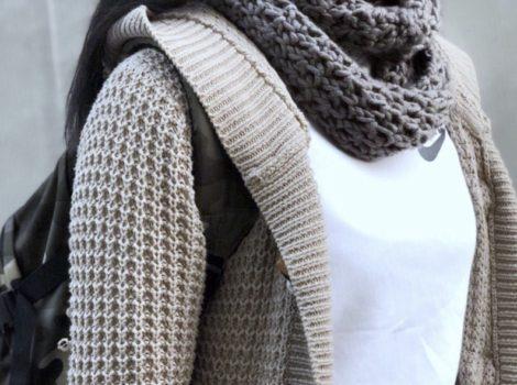 リビエラサロン 秋の講座  ざっくり手編みのおしゃれスヌードを編みましょう