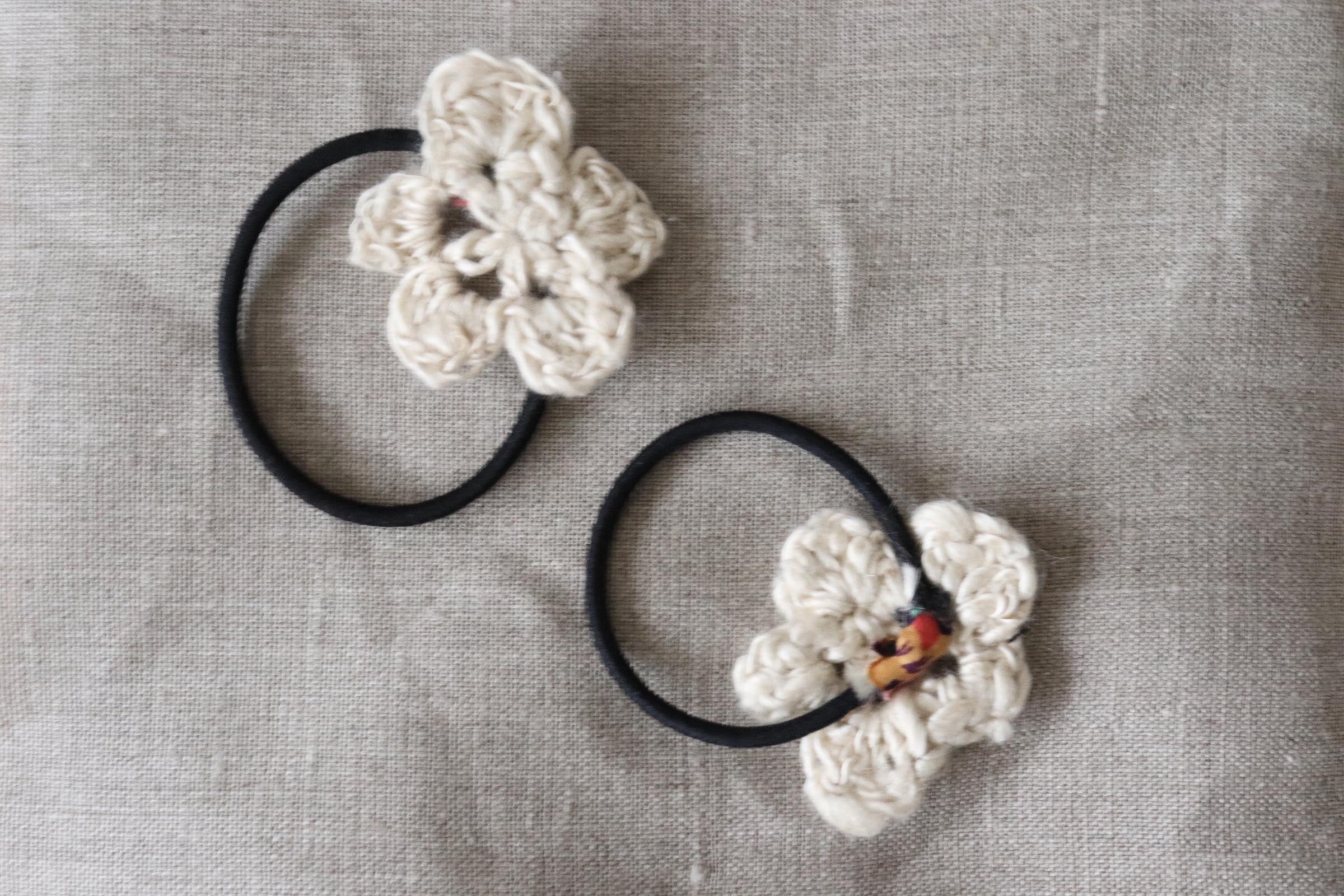昔初めて販売した編み物小物は、、